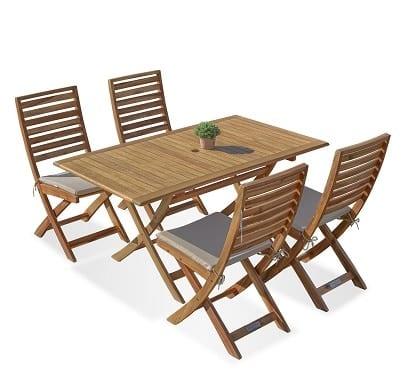 שולחן איזי מתקפל 140 + 4 כיסאות