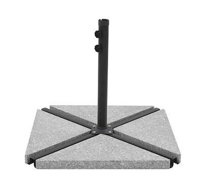 בסיס אבן לשמשיה משולשים