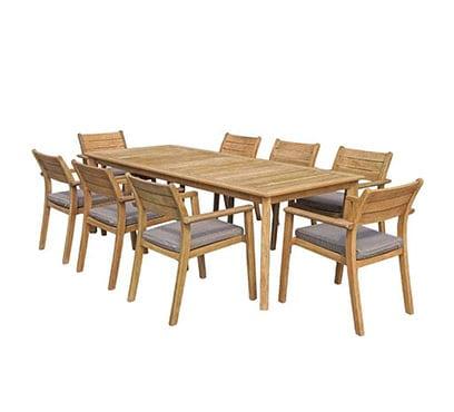 שולחן המפטון 170X90 בשילוב 6 כיסאות יורק