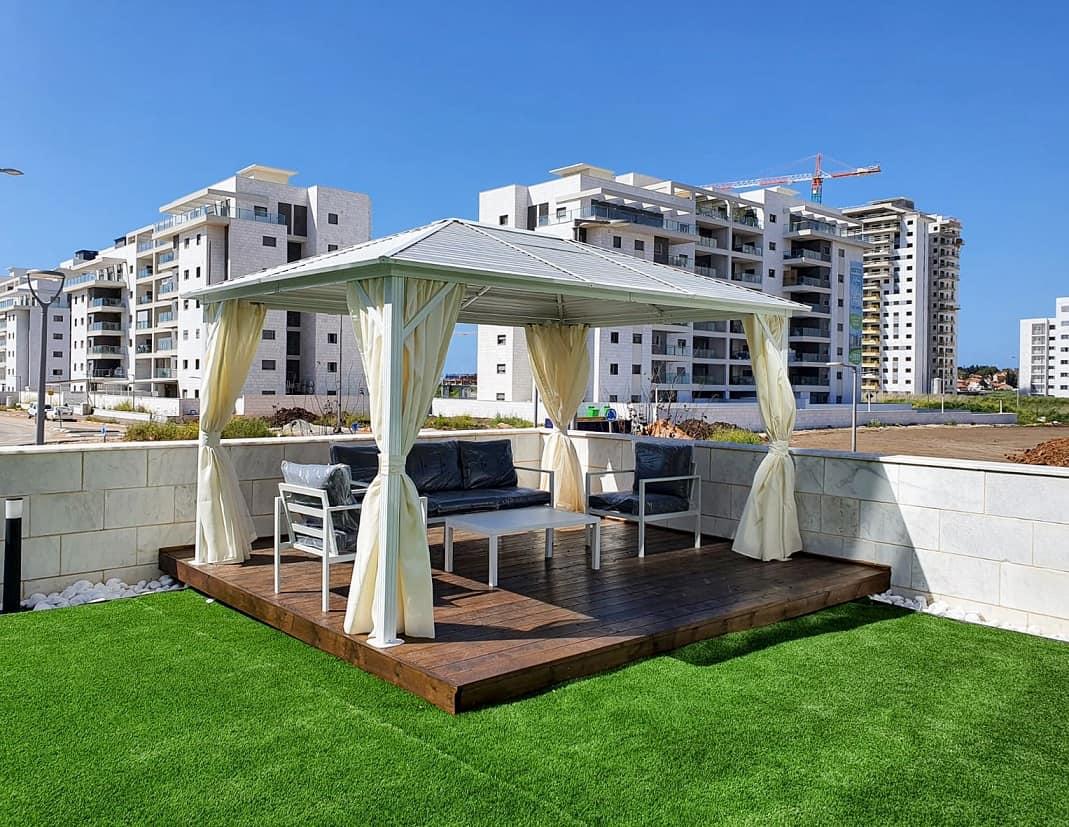 עיצוב הגינה והמרפסת