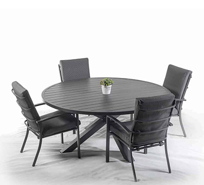 שולחן ארו בשילוב 4 כיסאות מטזו