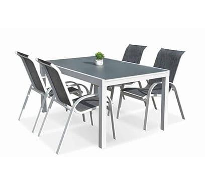 שולחן פלמה נפתח 240 בשילוב 6 כיסאות איזי