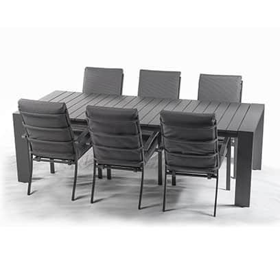 שולחן פרייזר בשילוב 6 כיסאות מטזו
