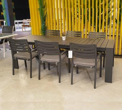 שולחן פרייזר בשילוב 6 כיסאות קומט