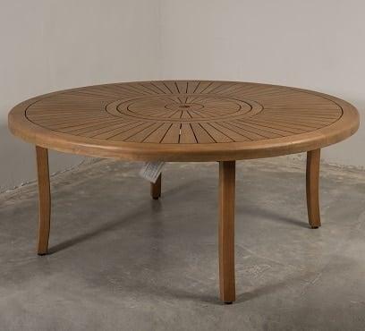 שולחן עץ עגול דגם סאן 180