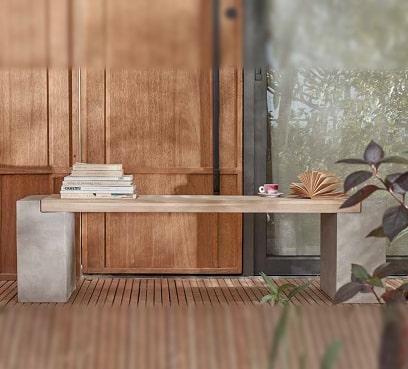 ספסל בטון מעוצב דגם קיטו