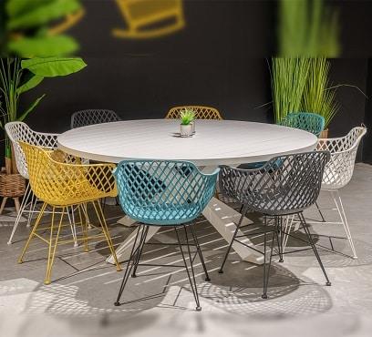שולחן ארו בשילוב 6 בלובל