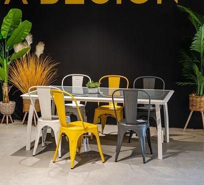 שולחן ברצלונה 180 בשילוב 6 אורבן