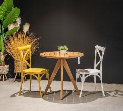 שולחן ג'ונו בשילוב זוג הריטאג'