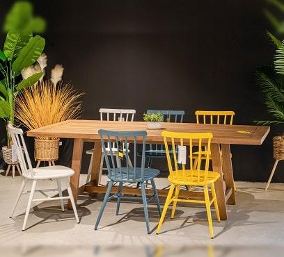 שולחן גלוסטר בשילוב 6 מג'יק