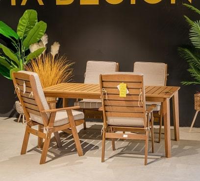שולחן המפטון 170 בשילוב 4 מונטריאול